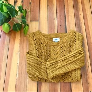 NWOT Old Navy mustard yellow sweater